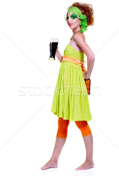 Dag meisje portret mooie model Stockfoto © zastavkin