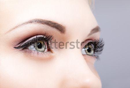 Coup Homme yeux maquillage visage Photo stock © zastavkin
