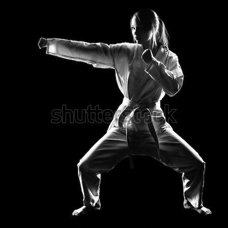 karate girl Stock photo © zastavkin