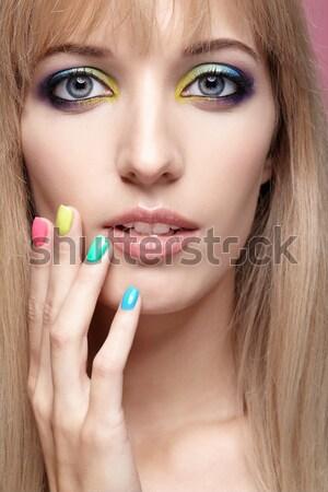 beautiful brunette Stock photo © zastavkin