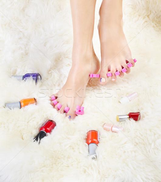 feet in toe separators Stock photo © zastavkin