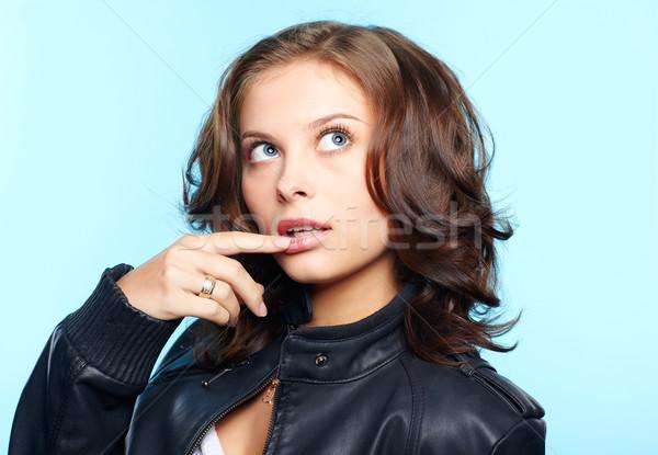 Stockfoto: Meisje · portret · mooie · jonge · brunette