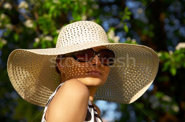 girl in hat Stock photo © zastavkin