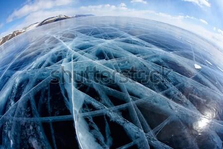 Стоунхендж льда выстрел озеро небе текстуры Сток-фото © zastavkin