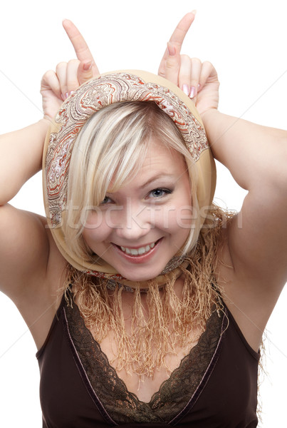 blonde girl Stock photo © zastavkin