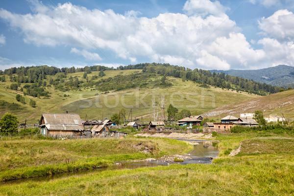 Altai village Stock photo © zastavkin