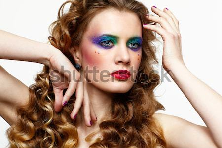 Jovem belo mulher Foto stock © zastavkin
