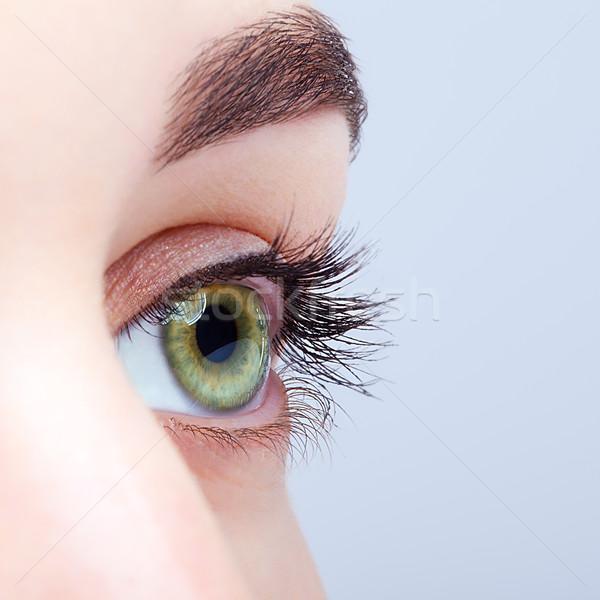 Stockfoto: Vrouwelijke · oog · dag · make · shot