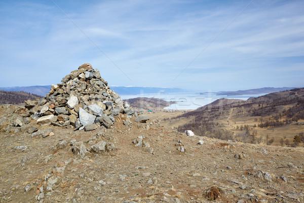 Stone mound Stock photo © zastavkin