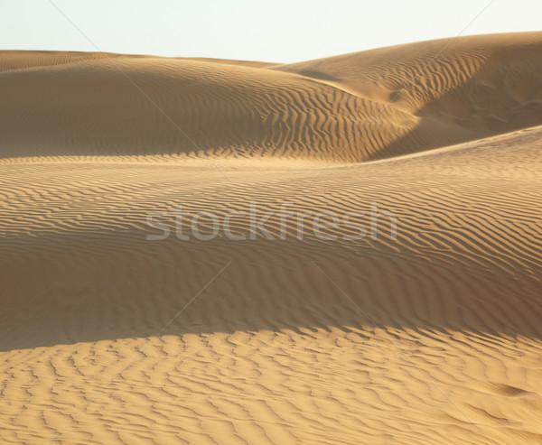 Areia deserto textura paisagem fundo azul Foto stock © zastavkin