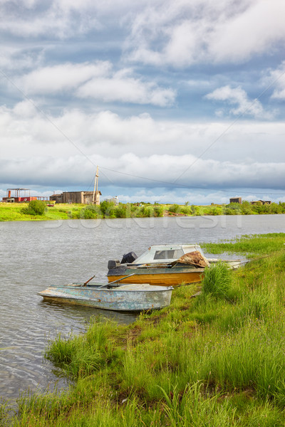 Boats  on the river  Stock photo © zastavkin