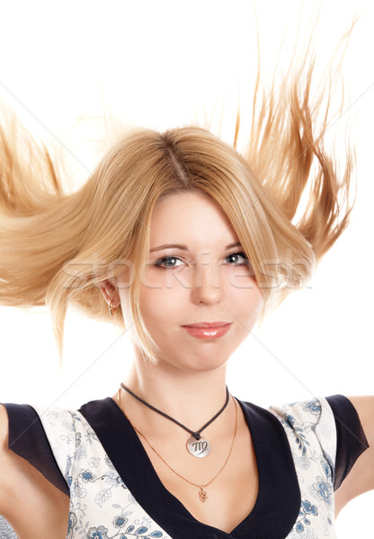 Pretty blonde girl Stock photo © zastavkin