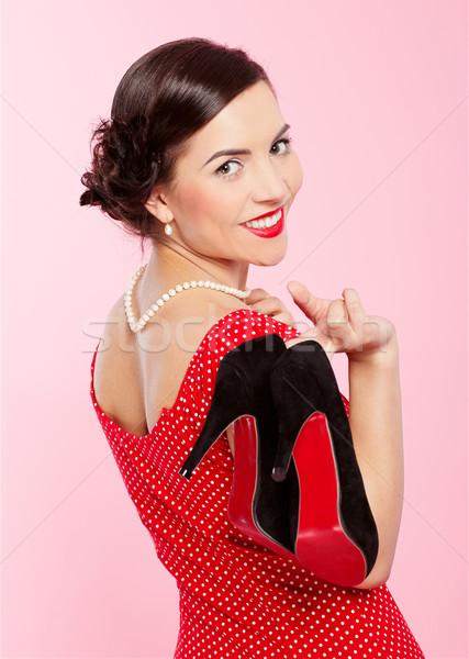 retro girl Stock photo © zastavkin