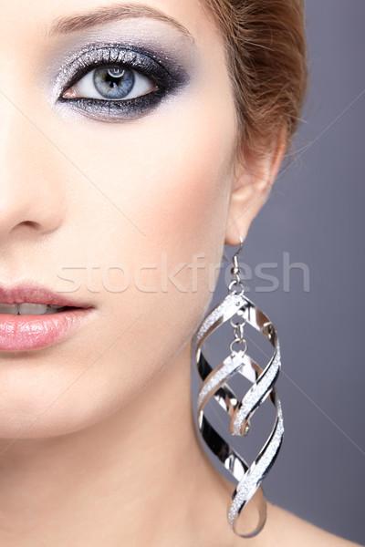 Brillant visage de femme maquillage belle jeune femme Photo stock © zastavkin
