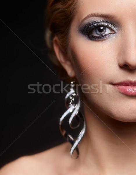 Foto d'archivio: Splendente · volto · di · donna · trucco · bella