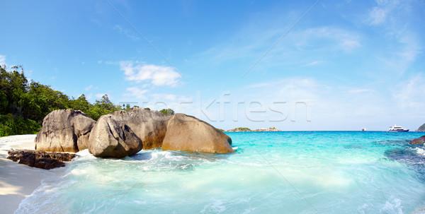 óceán tengerpart szigetek felhők tájkép tenger Stock fotó © zastavkin