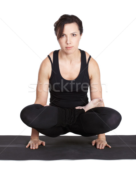 yoga excercising Stock photo © zastavkin