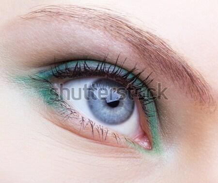Szem testművészet közelkép lányok arc divat Stock fotó © zastavkin