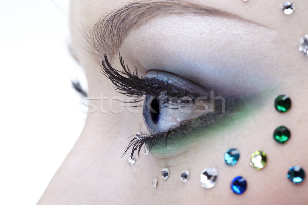 bodyart of eye zone Stock photo © zastavkin