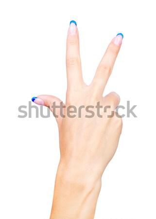 hand showing three fingers Stock photo © zastavkin