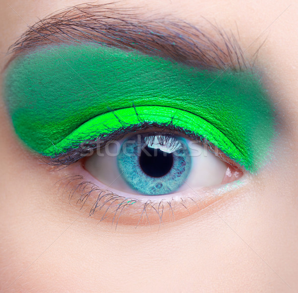 girl's eye-zone makeup Stock photo © zastavkin