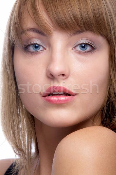 Atraente mulher retrato belo Foto stock © zastavkin