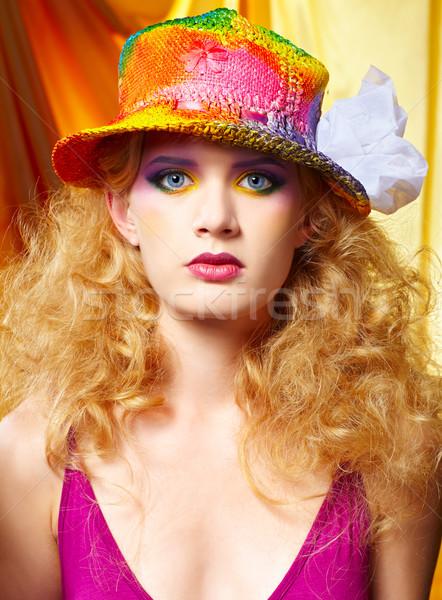 woman artist Stock photo © zastavkin