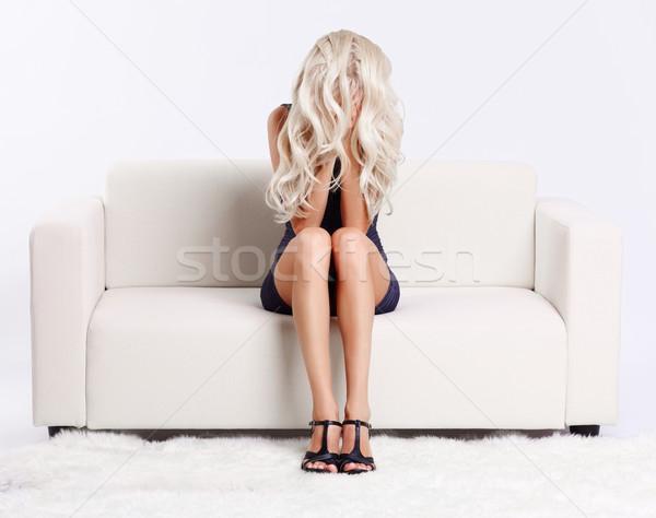 girl in despair Stock photo © zastavkin
