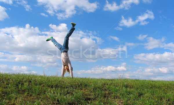 Summer Cartwheel Stock photo © zastavkin