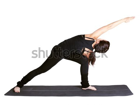 yoga excercising urdhva chaturanga dandasana Stock photo © zastavkin