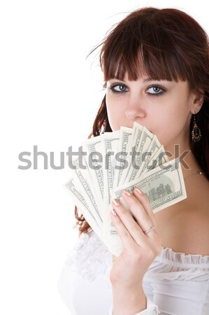 Girls with  money in hands Stock photo © zastavkin
