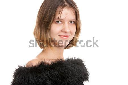 Smiling brunette woman Stock photo © zastavkin