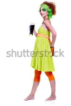 saint patrick's day girl Stock photo © zastavkin