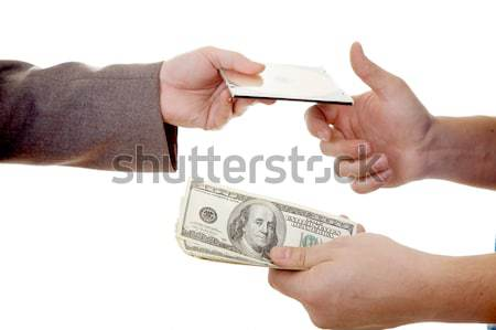 Hands with  money Stock photo © zastavkin