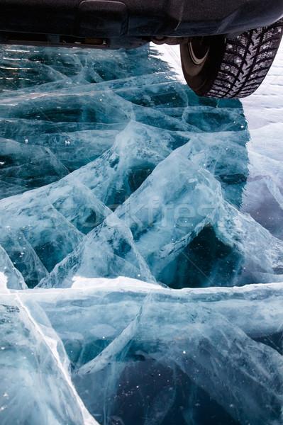 Car on ice Stock photo © zastavkin