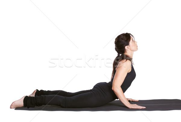 Ioga retrato bela mulher exercer cobra Foto stock © zastavkin