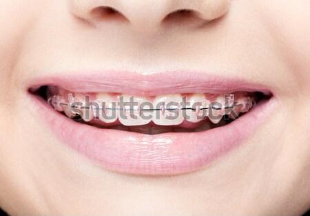 девочек губ рот девушки лице Сток-фото © zastavkin