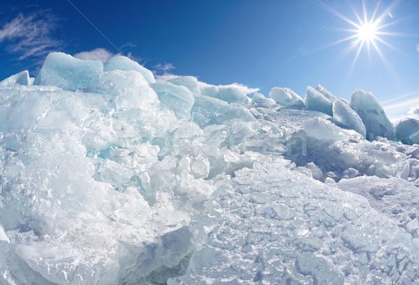 Tél jég nap kék utazás tó Stock fotó © zastavkin
