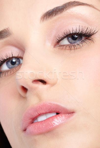 Nő szemek közelkép lövés nap smink Stock fotó © zastavkin