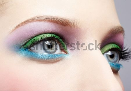 Piękna brunetka dziewczyna portret oczy Zdjęcia stock © zastavkin