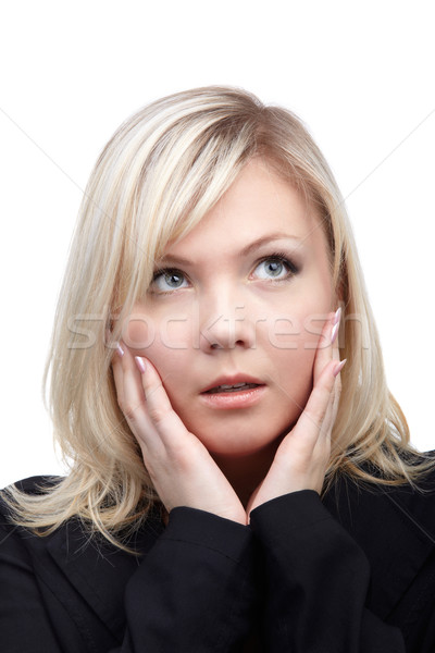 worried blonde girl Stock photo © zastavkin