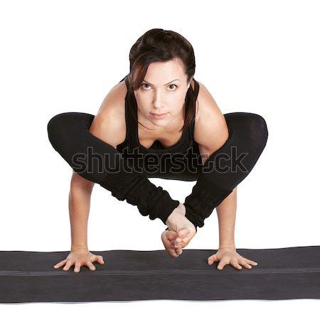 Yoga portret mooie vrouw oefening pose Stockfoto © zastavkin