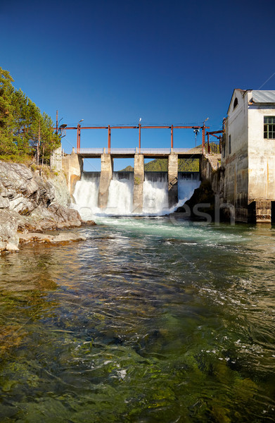 Stock photo: Chemal hydroelectric power plant