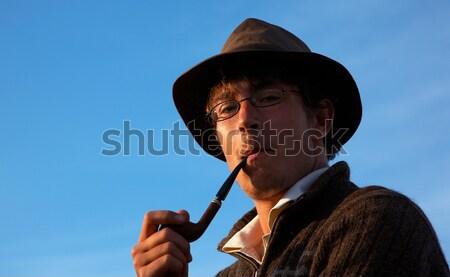 smoking man Stock photo © zastavkin