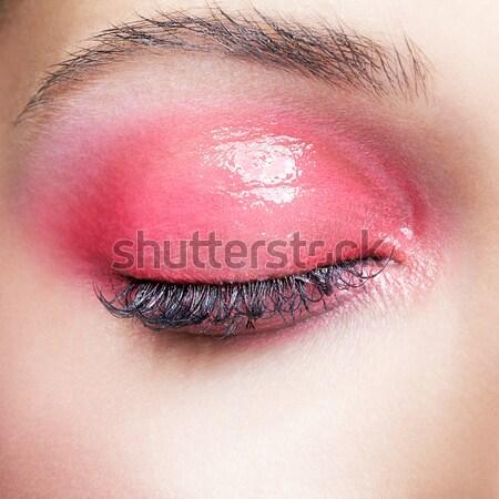 Сток-фото: женщину · губ · макияж · портрет · красивая · женщина