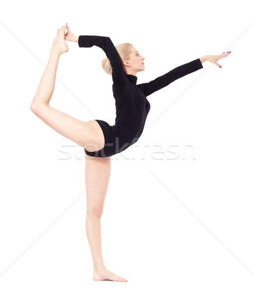 beautiful blonde gymnast Stock photo © zastavkin