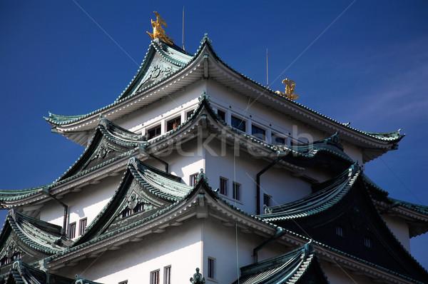 Castelo verão ver blue sky Japão árvores Foto stock © zastavkin