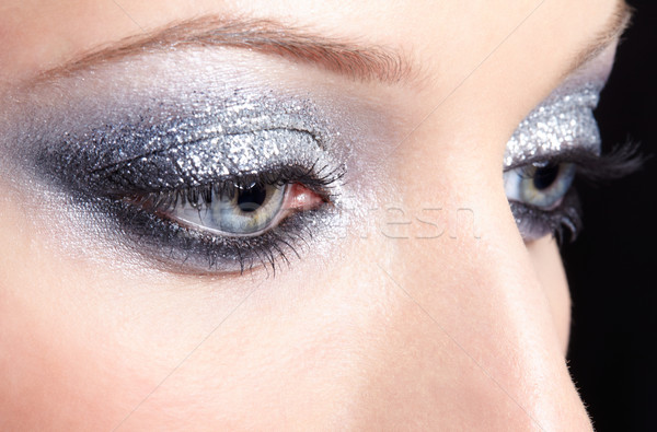 ストックフォト: 女性 · 目 · 化粧 · 眼 · 若い女性