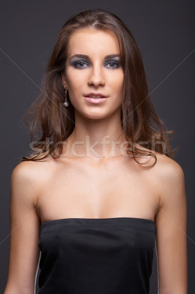 model with flattering hair Stock photo © zastavkin