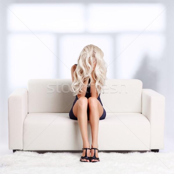 девушки отчаяние портрет депрессия красивой молодые Сток-фото © zastavkin